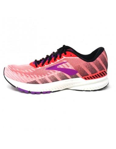 Brooks Ravenna 10 Mujer Coral/Purple/Black