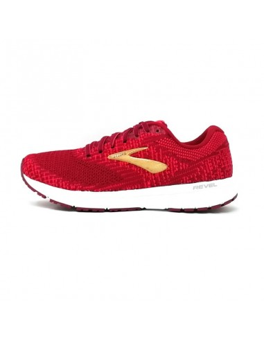 Brooks Revel 3 Mujer Rumba Red/Teaberry/Gold