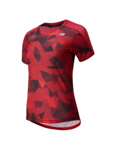 New Balance Camiseta de manga corta Mujer London Edition Printed Impact Run