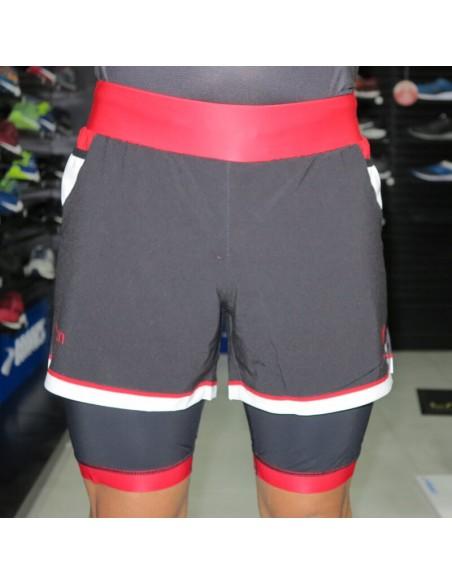Pantalón corto con malla interior Trail Running Mobel eMotion