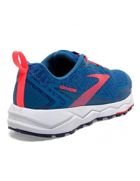 Brooks Divide Mujer 468 - Blue Sapphire/Blue/Coral