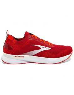 Brooks Levitate v4 672 - Red / Cherry Tomato / White