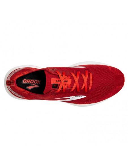 Brooks Levitate v4 672 - Red / Cherry Tomato / White